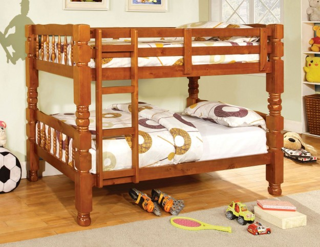 Carolina Oak Twin Over Twin Bunk Bed