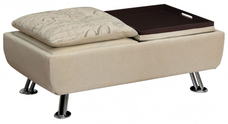 Hauser I World Traveler Fabric Ottoman