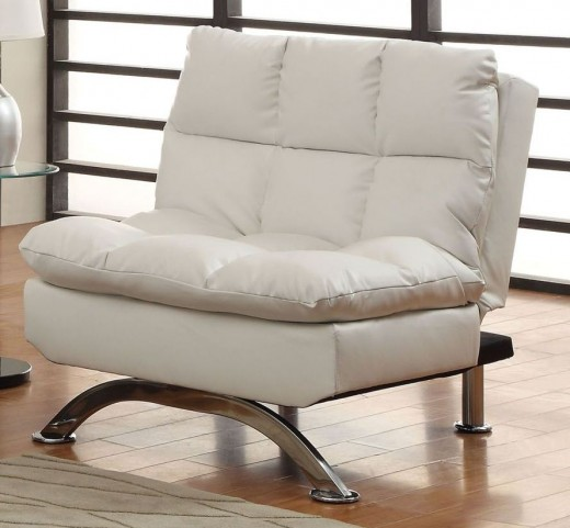 Aristo White Leatherette Chair