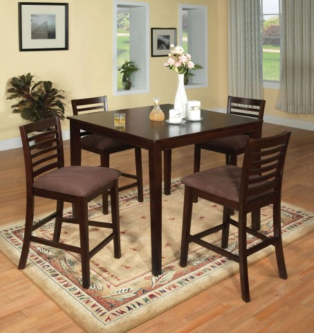 Eaton II 5 Piece Counter Height Table Set
