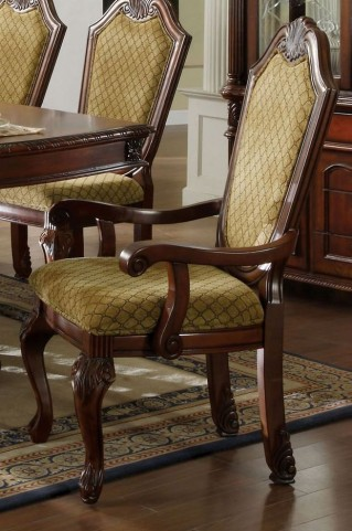 Napa Valley Dark Cherry Arm Chair Set of 2
