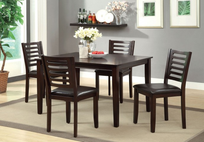 Amador I Espresso 5 Piece Dining Table Set