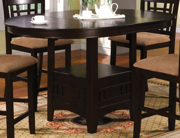 Metropolis Oval Counter Height Table