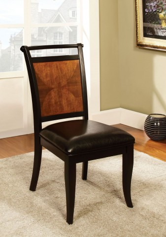 Salida I Acacia Leatherette Side Chair Set of 2