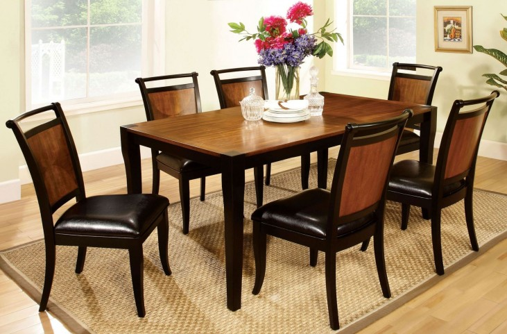 Salida I Acacia Rectangular Leg Dining Room Set