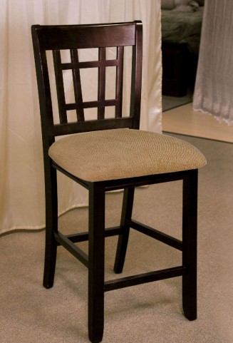 Central Park III Dark Cherry Counter Height Chair Set Of 2