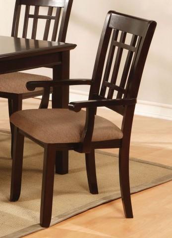 Central Park I Dark Cherry Arm Chair Set of 2