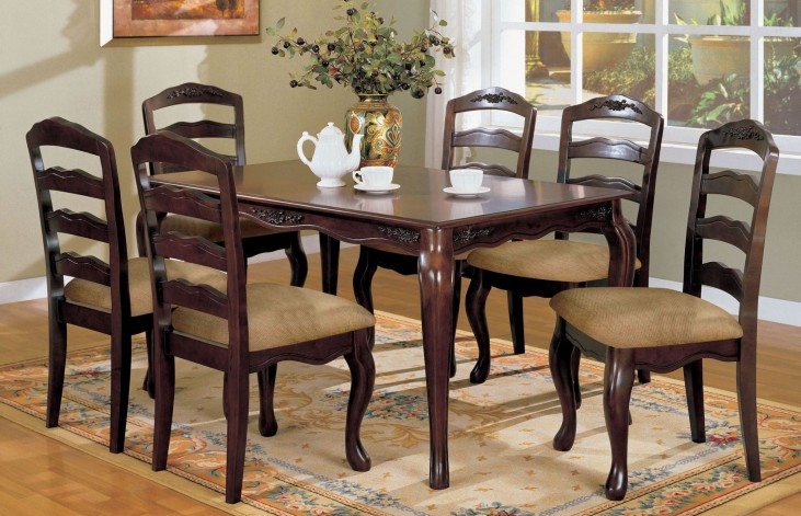 "Townsville Dark Walnut 60"" Rectangular Leg Dining Room Set"