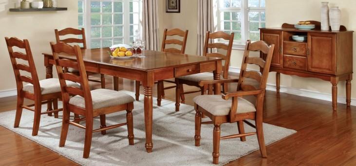 Spring Creek American Oak Rectangular Extendable Leg Dining Room Set