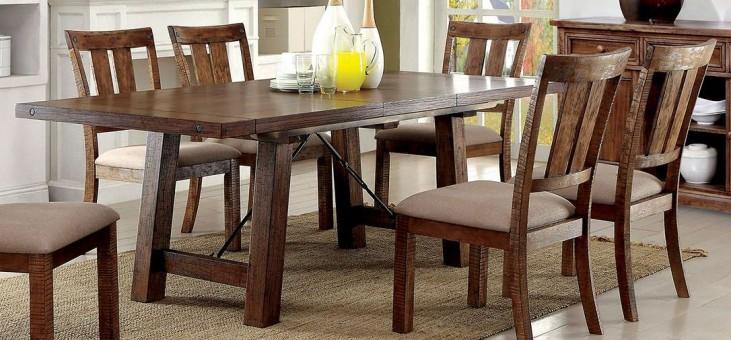 Dickey Medium Oak Extendable Rectangular Dining Table