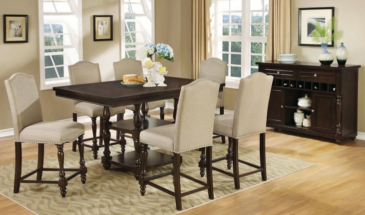 Hurdsfield II Antique Cherry Counter Height Dining Room Set