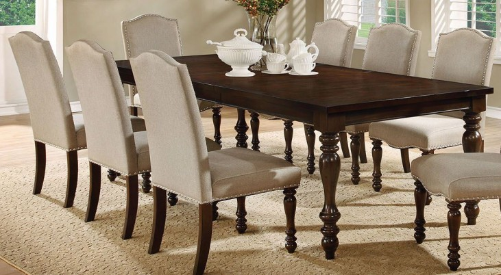Hurdsfield Antique Cherry Extendable Rectangular Dining Table