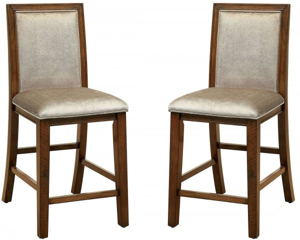 Ingrid II Walnut Counter Height Chair Set Of 2