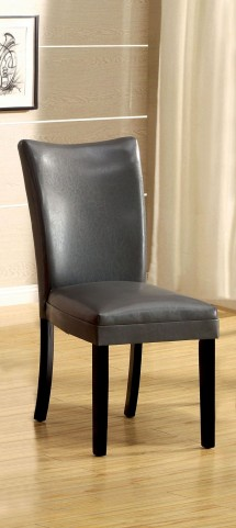 Belliz Gray Leatherette Side Chair Set of 2