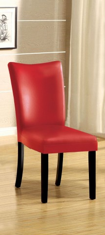 Belliz Red Leatherette Side Chair Set of 2