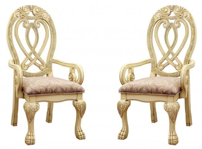 Wyndmere White Arm Chair Set of 2