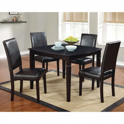 Danette Dark Cherry 5 Piece Dining Room Set