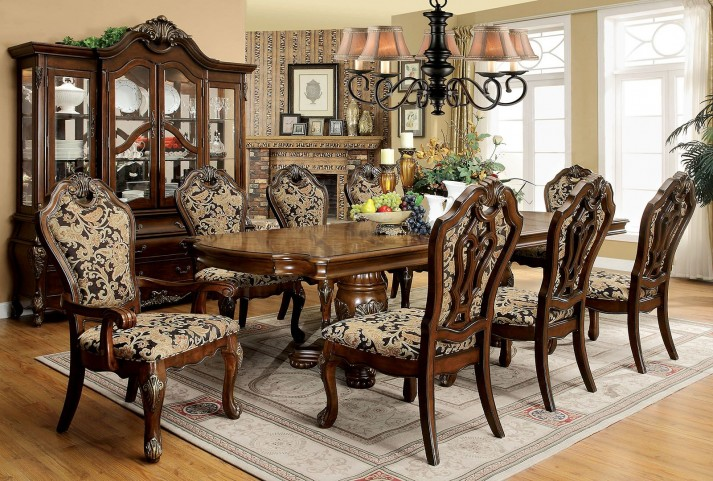 Vicente Cherry Extendable Rectangular Dining Room Set