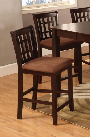 Eleanor Espresso Counter Height Chair Set of 2