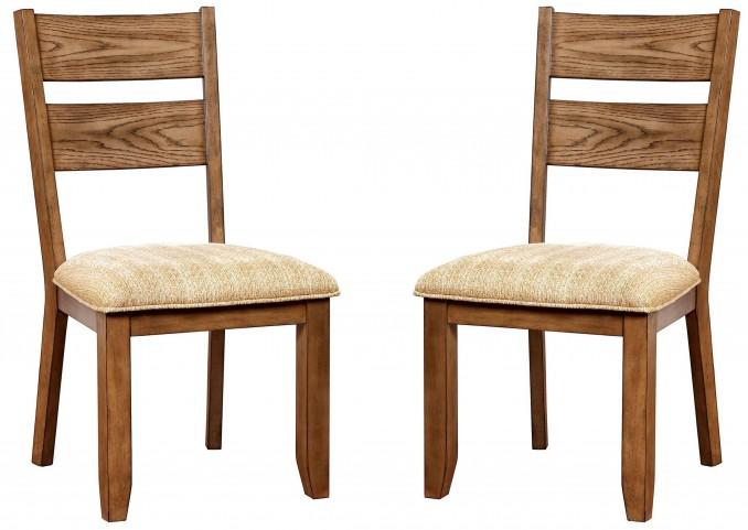 Ava Light Oak Side Chair Set Of 2