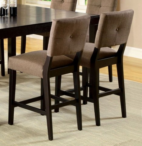 Bay Side II Espresso Counter Height Chair Set of 2