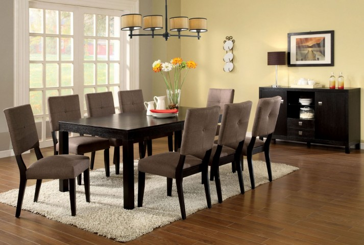 Bay Side I Espresso Rectangular Leg Dining Room Set