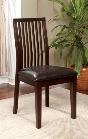 Reyes I Walnut Side Chair Set of 2