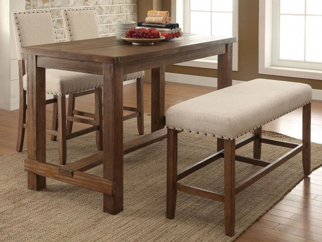 Sania Natural Tone Counter Height Dining Room Set