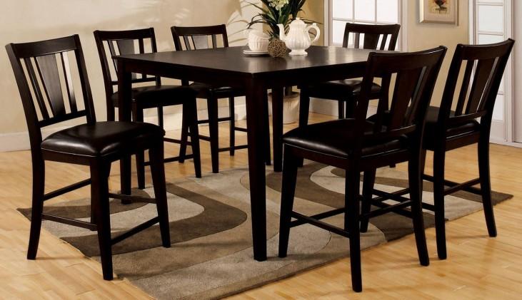 Bridgette I Espresso 7 Piece Dining Room Set