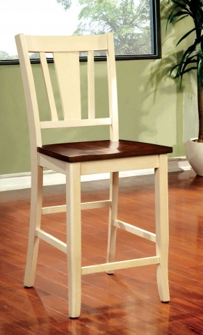Dover II Vintage White and Cherry Counter Height Chair Set of 2