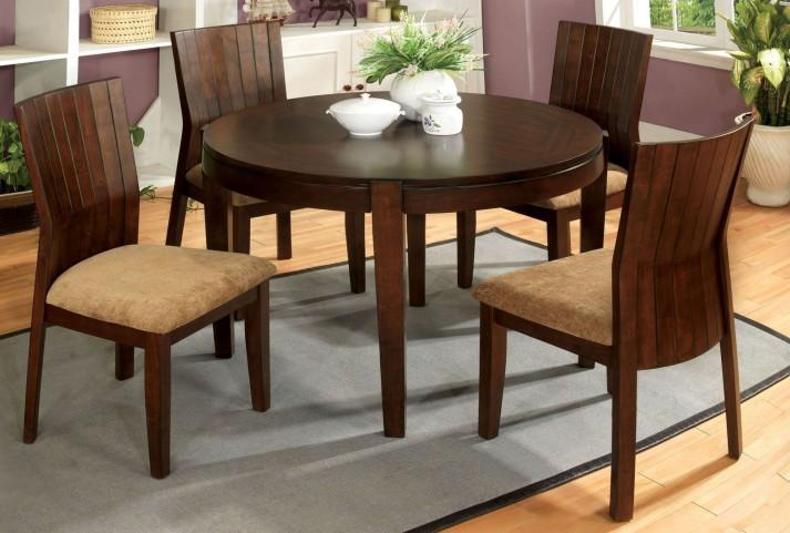 Ottawa I Walnut Round Leg Dining Room Set
