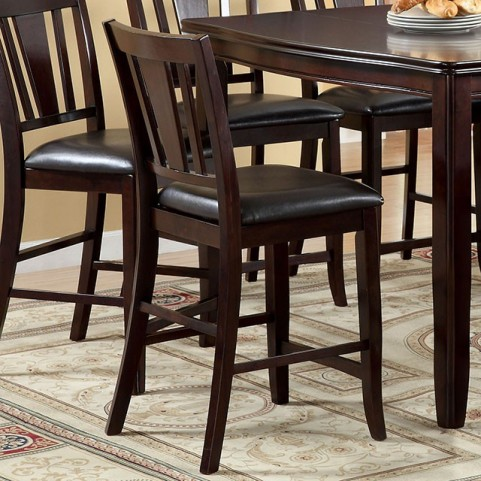 Edgewood II Espresso Counter Height Chair Set of 2