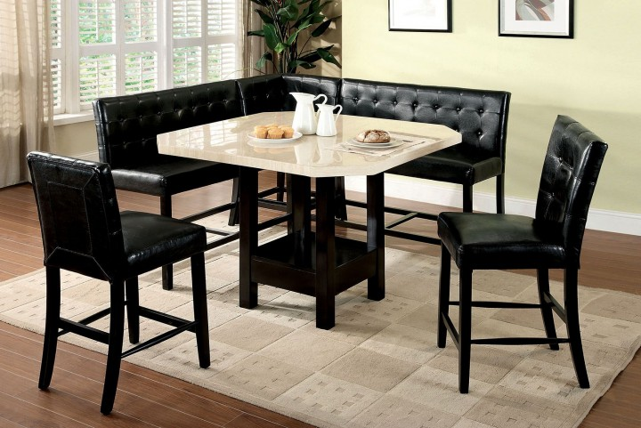 Bahamas Faux Marble Counter Height Dining Room Set