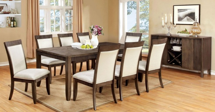 Forbes I Gray Rectangular Extendable Leg Dining Room Set