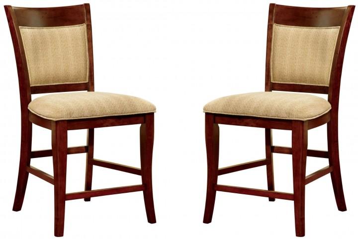 Emmett II Dark Oak Fabric Counter Height Chair Set of 2