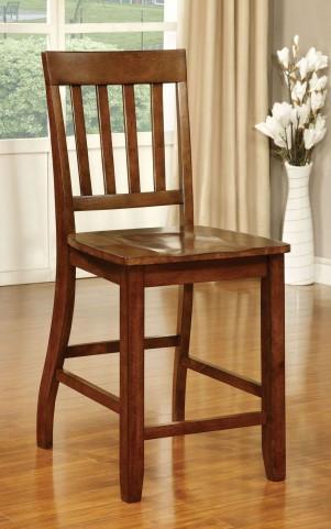 Foster II Dark Oak Counter Height Chair Set of 2