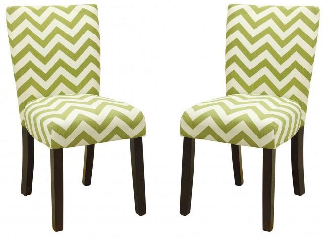Capri III Green Side Chair Set of 2