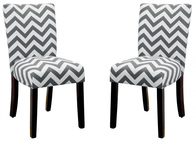 Capri III Gray Side Chair Set of 2
