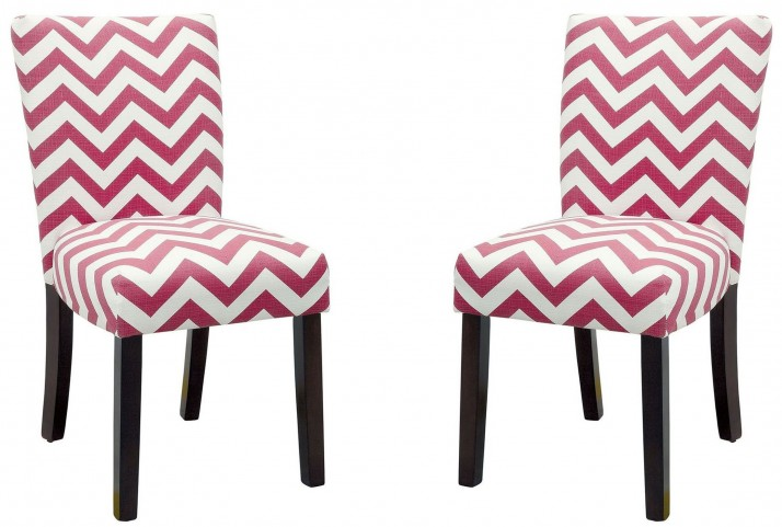 Capri III Red Side Chair Set of 2