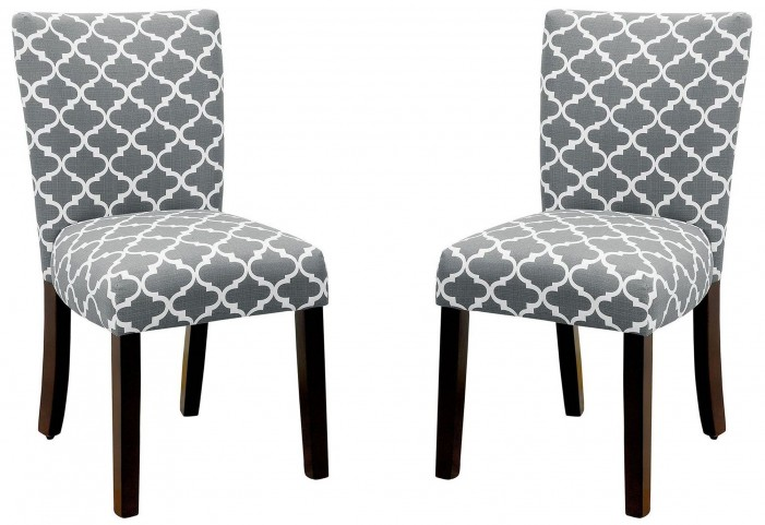 Capri I Gray Side Chair Set of 2