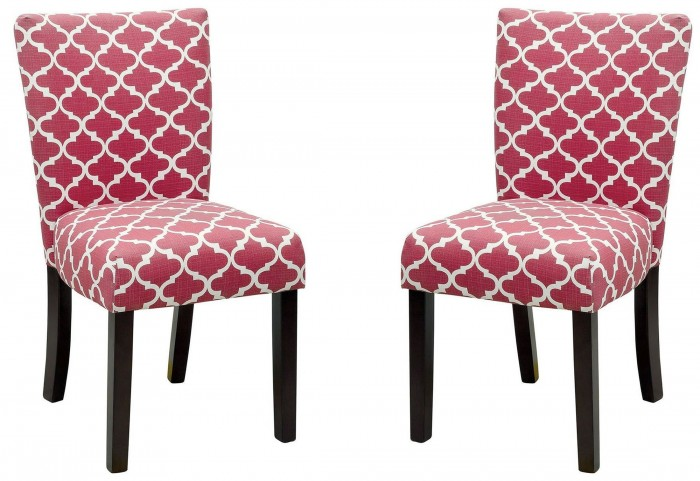 Capri I Red Side Chair Set of 2