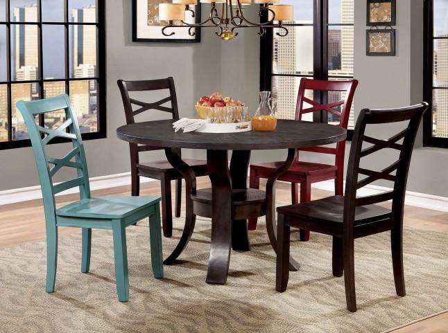 Giselle Espresso Round Dining Room Set