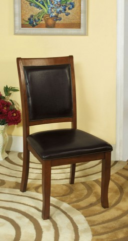 Sandy Point Brown Cherry Side Chair Set of 2
