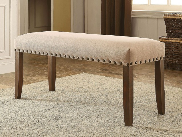 Brentford Flax Fabric Bench