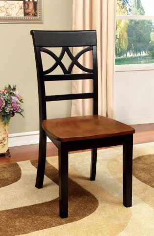 Torrington Black and Cherry Side Chair Set of 2