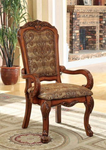 Medieve Antique Oak Arm Chair Set of 2