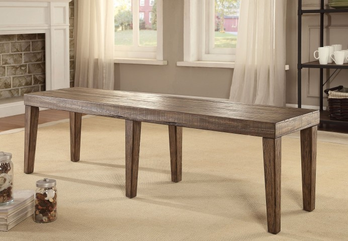 Colettte Rustic Oak Bench