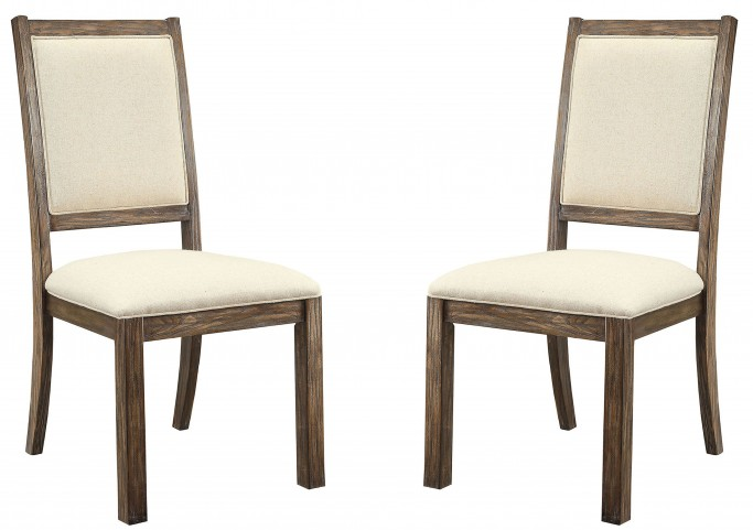 Colettte Beige Side Chair Set Of 2