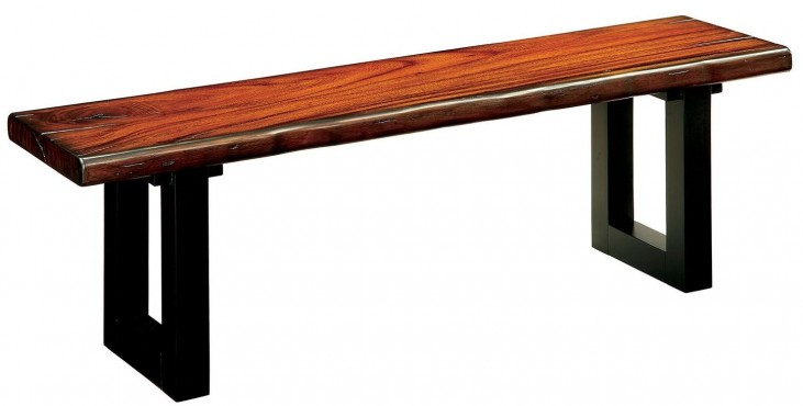 Maddison Tobacco Oak Bench