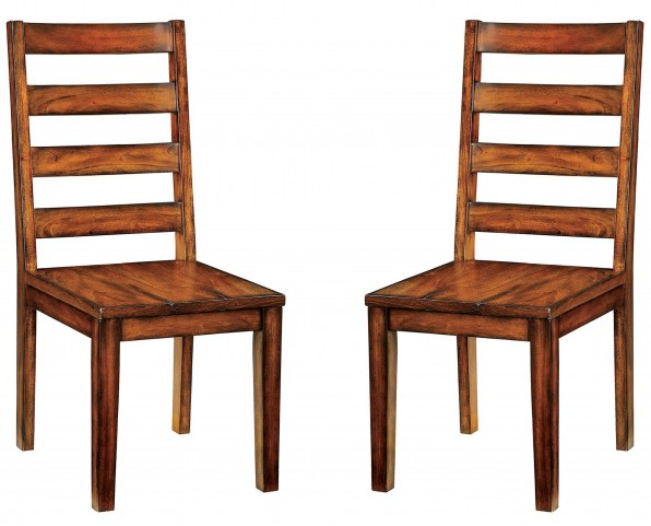 Maddison Tobacco Oak Side Chair Set Of 2